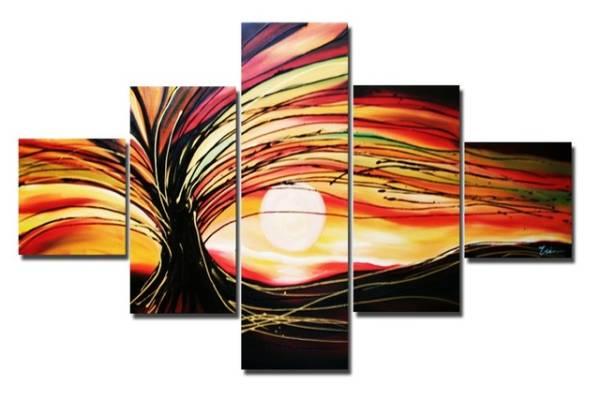 アートパネル 『椰子と太陽』 25x30cm x 2枚他、計5枚組