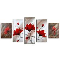 アートパネル 『赤い花Ⅲ』 30x50cm、2枚他、計5枚組