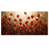 アートパネル 『赤い華』 80x160cm x 1枚
