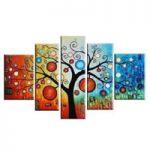 アートパネル 『生命の樹』 40x60cm他、計5枚組