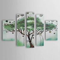 アートパネル 『緑の木』 25x45cm、2枚他、計5枚組