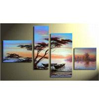 アートパネル 『松のある海辺』 30x40cm他、計4枚組