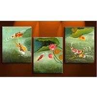 アートパネル 『鯉』 30x40cm x 3枚組