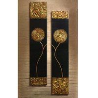 アートパネル 『黒と金Ⅱ(ビッグサイズ)』 30x120cm x 2枚組