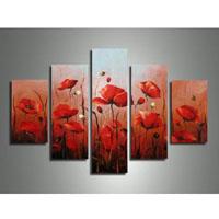 アートパネル 『赤い花Ⅱ』 30x60cm他、計5枚組