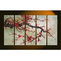 アートパネル 『紅梅?』 30x90cm x 5枚組