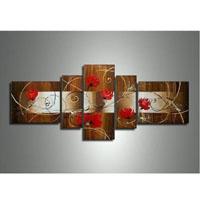アートパネル 『薔薇のある情景』 40x90cm他、計5枚組