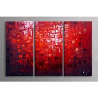 アートパネル 『赤い世界』 30x70cm、3枚組
