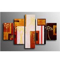アートパネル 『ブラウン・ブロック』 5枚組