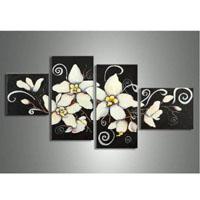 アートパネル 『白い花びらⅡ』 合計4枚組