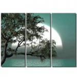 アートパネル 『海辺の朝』 30x80cm、3枚組
