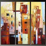 アートパネル 『ビルディング』 30x80cm x 3枚組