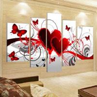 アートパネル 『ハート』 40x60cm x 2枚組ほか、計5枚組