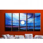 アートパネル 『桜と満月』 30x90cm x 5枚組