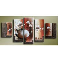 アートパネル 『花瓶の白い花』 25x40cm、2枚他、計5枚組