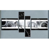 アートパネル 『黒と白』 40x60cm x 2枚他、計4枚組