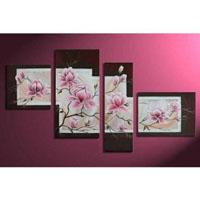 アートパネル 『ピンクの花びらⅡ』 40x50cm他、4枚組