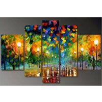 アートパネル 『並木道Ⅱ』 25x40cm x 2枚他、計5枚組