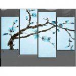アートパネル 『青い花びらⅢ』 30x60cm x 2枚他、計4枚組