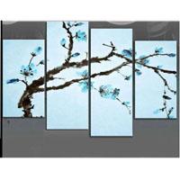 アートパネル 『青い花びら?』 アートパネル 『青い花びらⅢ』 30x60cm x 2枚他、計4枚組 x 2枚他、計4枚組