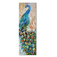 アートパネル 『孔雀Ⅱ』 150x50cm x 1枚
