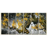 アートパネル 『梅の木Ⅴ』 30x90cm x 6枚組