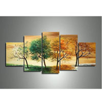 アートパネル 『四季の移ろい』 30x80cm他、計5枚組