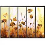 アートパネル 『ポピーの花』 30x90cm x 5枚組