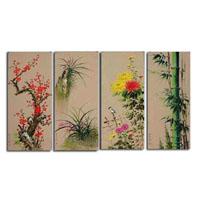 アートパネル 『花鳥風月』 35x70cm x 4枚組
