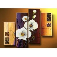 アートパネル 『白い花びらⅨ』 30x60cm、2枚他、計4枚組