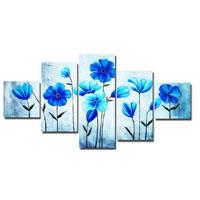 アートパネル 『青い花びらⅣ』 30x60cm他、計5枚組