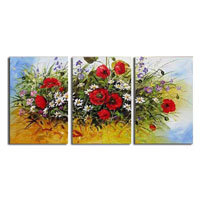 アートパネル 『カラフルな花々』 40x60cm x 3枚組