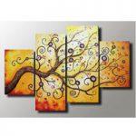 アートパネル 『生命の樹Ⅷ』 30x50cm他、4枚組