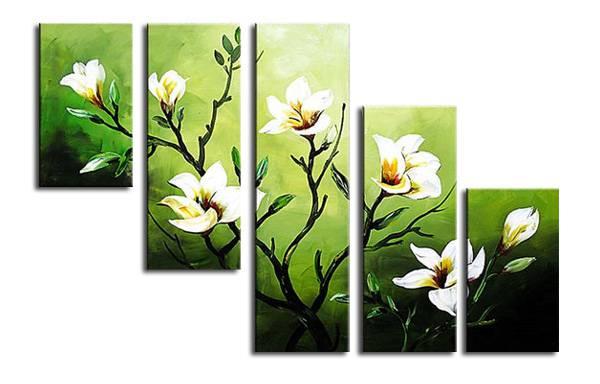 アートパネル 『花びらⅩⅡ』 25x80cm他、計5枚組