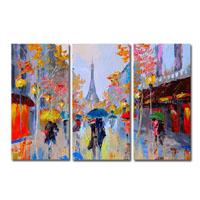 アートパネル 『パリ』 35x80cm x 3枚組