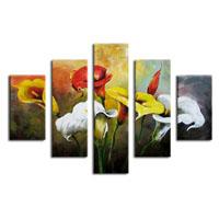 アートパネル 『花々Ⅳ』 30x90cm他、5枚組