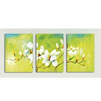 アートパネル 『白い花びらⅣ』 40x60cm、3枚組
