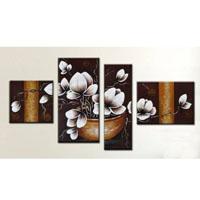 アートパネル 『鉢植えの白い花』 30x40cm他、計4枚組
