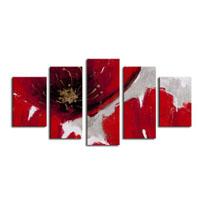 アートパネル 『赤い花びらⅩ』 30x80cm他、5枚組