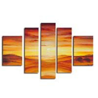 アートパネル 『夕焼けⅡ』 20x90cm他、5枚組