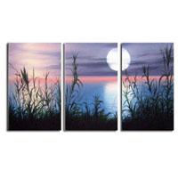 アートパネル 『夢月夜』 25x50cm x 3枚組