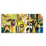 アートパネル 『黄色い抽象』 40x60cm x 3枚組