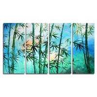アートパネル 『竹Ⅴ』 30x70cm、4枚組