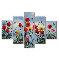 アートパネル 『青空と花々Ⅱ』 25x70cm他、5枚組