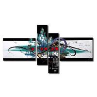 アートパネル 『都市と流線』 20x60cm他、4枚組