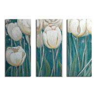 アートパネル 『白いチューリップ』 35x70cm x 3枚組