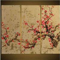 アートパネル 『桜花』 30x90cm x 3枚組