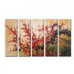 アートパネル 『梅の木Ⅶ』 30x80cm、5枚組