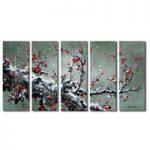 アートパネル 『梅の木Ⅷ』 30x80cm x 5枚組