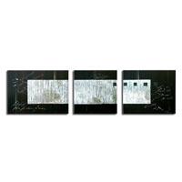 アートパネル 『黒と銀』 40x60cm他、計3枚組